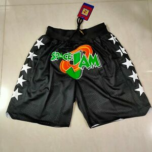 Hot sale Space Jam Movie Black Basketball Shorts with Pockets Size: S-XXL