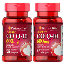 CoQ10 CO Q-10, CoQ-10, 600 mg 2x30 or 1x60gels Q-Sorb Coenzyme Q-10 Puritan
