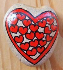Hand painted rocks, pebble art. Love heart, valentines, birthday gift idea.