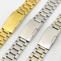 Men's Stainless Steel Watch Band Watch Strap Bracelet Gold&Silver 18mm 20mm 22mm