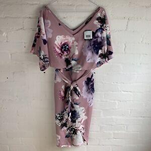 Quiz Floral Batwing Midi Summer Dress (Wedding, Races, Christening) UK8 RRP£35