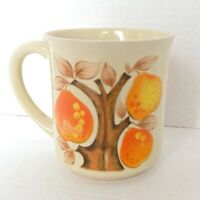 Vintage Coffee Mug Cup Ceramic Golden Pear Tree