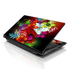 """13.3"""" 15.6"""" 16"""" Laptop Skin Sticker Notebook Decal Colorful Floral M-A04"""