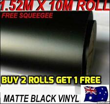 BRAND NEW Matte Black Matt Car Vinyl Wrap Sticker 1.52M X 10M FREE SQUEEGEE OZ