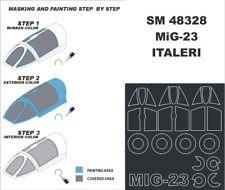 Montex Mini Mask 1:48 Mig-23 Flogger for Italeri Spraying tencil #SM48328