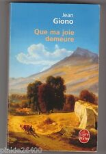 Que ma joie demeure - Jean Giono. Jean Achard en couverture.