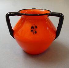 Art Nouveau Glass Vase Tango Orange Schwarzlot Painting Loetz Bohemia um1915