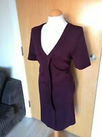 Ladies Dress Size 16 NEXT Burgundy Shift Smart Office Work Day Party