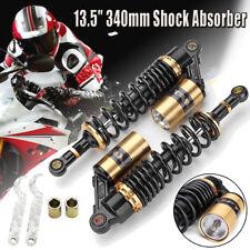 2Pcs 340mm Motorcycle Air Shock Absorber Suspension Damper For ATV Dirt Bike