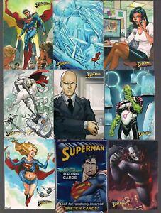 SUPERMAN THE LEGEND CRYPTOZOIC 2013 COMPLETE 62 CARD BASE SET + PACK WRAPPER