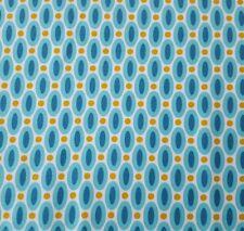 True Colors Bty Joel Dewberry FreeSpirit Abacus Aqua Geometric Oval Dot