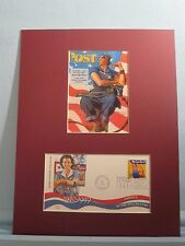 Rosie the Riveter helps win WWII and the First Day Cover of her own stamp
