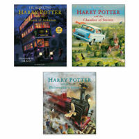 Harry Potter The Illustrated collection J.K.Rowling 3 books classics NEW Set