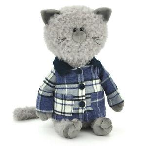 Plüschtier Katze mit Jacke - 30-40cm - Kuscheltier - OrangeToys NEU