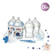 Nuby  Newborn Bottle Starter Set Blue Colours  Bpa Free Perfect Gift/Baby Shower