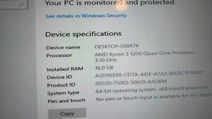 Desk Top PC, AMD Ryzen 3