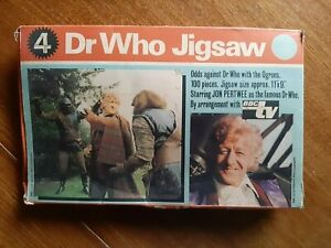 Dr Who vintage 100pc jigsaw puzzle, 1972, 'Odds Against Dr Who', Jon Pertwee