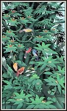 """Original Balinese Painting  """"Jungle Life""""  EXQUISITE!  (48"""" H x 28.5"""" W)  Signed"""