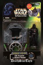 Star Wars POTF2 Green Card Deluxe Darth Vader Gunner Station TIE Fighter Vehicle