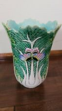 New listing Antique Porcelain Chinese Cabbage Leaf Vase butterfly Marked
