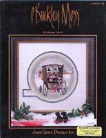 P Buckley Moss CHRISTMAS CAROL Amish themed Cross Stitch June Grigg #113