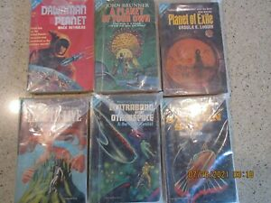 Lot of 6~ACE DOUBLE SCIENCE FICTION PAPERBACKS - G SERIES