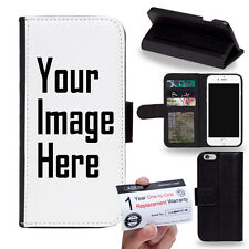 Customized Personalized Photo DIY Picture PU Leather Flip Phone Case Cover