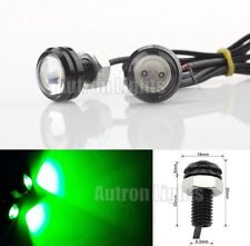2 Pcs COB LED Eagle Eye Car Daytime Running DRL Tail/Head Light Backup Green 12V