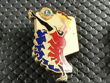 PINS PIN BADGE BROCHE LIONS CLUB PIN UP FRANCE SIGNE DRAGO