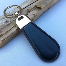 NEW INFINITI LOGO LEATHER LOOK BLACK KEYCHAIN KEY-CHAIN Key Ring KC064