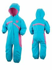 New Baby Girl Columbia Mazzy Munchkin Snow Suit Pants Blue Pink Size 6 Months