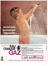 PUBLICITE ADVERTISING  1965   GAZ DE FRANCE  l'eau chaude