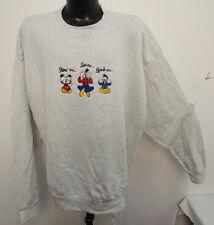 Mickey Mouse Vintage Disney 2Xlarge Crew Neck Sweatshirt Hear See Speak No Evil