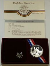 1984 Olympic Proof Silver Dollar Commemorative Coin in Original Mint Packaging