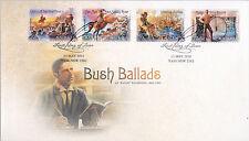 """2014 Bush Ballads AB """"""""Banjo"""""""" Paterson (P&S Stamps) FDC - Yass NSW 2582 PMK"""