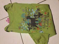 Tshirt KIABI manches longues VERT Paillettes+bambi Enfant Fille 10 Ans 138cm