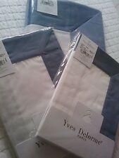 Yves Delorme COCON BALTIC BLANC SATIN Duvet Cover Set SUPERKING