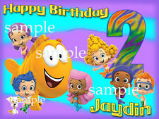 BUBBLE GUPPIES Edible CAKE Decoration Image Icing Topper FREE SHIPPING