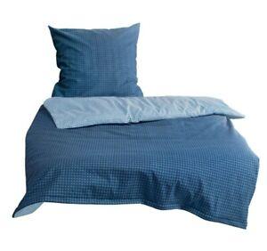 Bierbaum Mako Satin Bettwäsche 3384 135x200 oder 155x220 cm blau