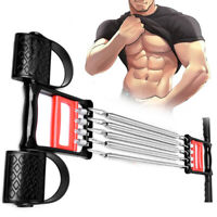 Chest Expander Exercise Muscle Pulling Gym Handle Resistance Training 5 Springs