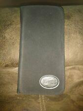 "American Tourister Black Zip Around Nylon Passport wallet Travel Case 8.5""x 4.5"""