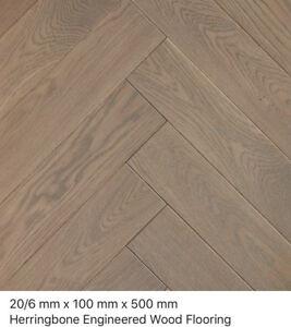 Herringbone Chester Oak Rustic 20/6 x 100 x 500mm  engineered wood flooring
