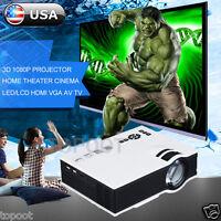 7000 Lumens Full HD 1080P LED LCD VGA HDMI TV Home Theater Projector Cinema US