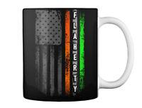 Flaherty Family Irish American Flag Gift Coffee Mug