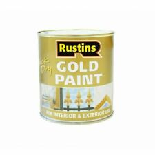 Rustins Gold Paint Quick Dry Can Be Applied To Wood And Metal 500ML