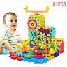 81Pcs Plastic Electric Gears 3D Building Kits Educational Toy Kids Children
