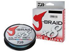 Daiwa J-Braid X8  300m / Multi Color / PE braided line / filo da pesca trecciato