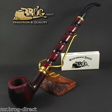 "Mr.Brog original LONG smoking pipe nr.15 Red ""Bent Albert "" Hand made in EU"