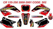 502 HONDA CR 125-250 2000-2001 Autocollants Déco Graphics Stickers Decals Kit