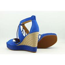 Lucky Brand Listalia Women US 6 Blue Wedge Sandal Blemish  11784